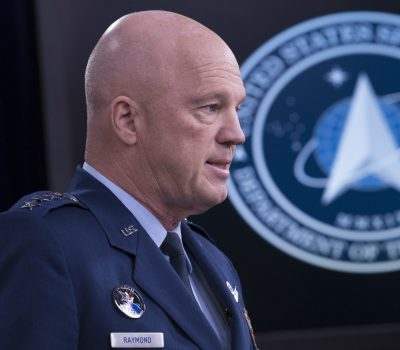 USAF Gen Raymond Briefs on Space Force, Spacecom and COVID-19