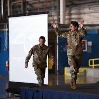 AMC commander, command chief visit Team McChord