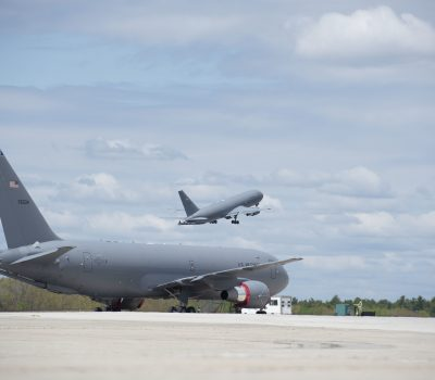 NH Air National Guard KC-46 aircrew fly to train