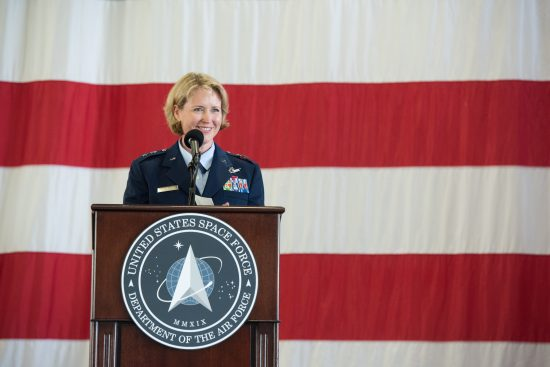 Maj Gen DeAnna Burt Speaks at Ceremony