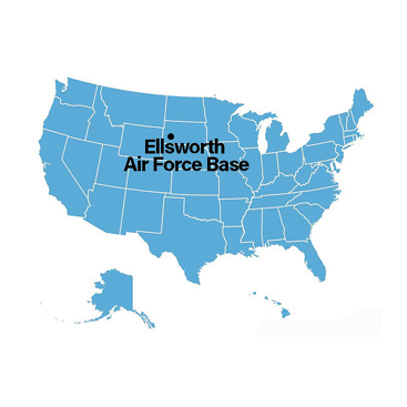 Ellsworth AFB map