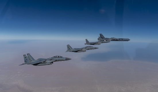 Bombers showcase airpower in the Middle East