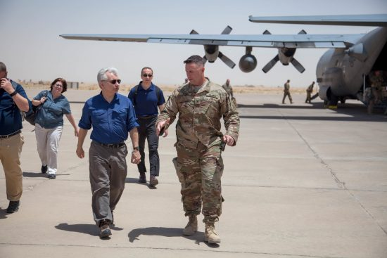 U.S. Senator Jack Reed Visits Deployed Troops