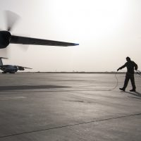 746th EAES unloads cargo in Afghanistan