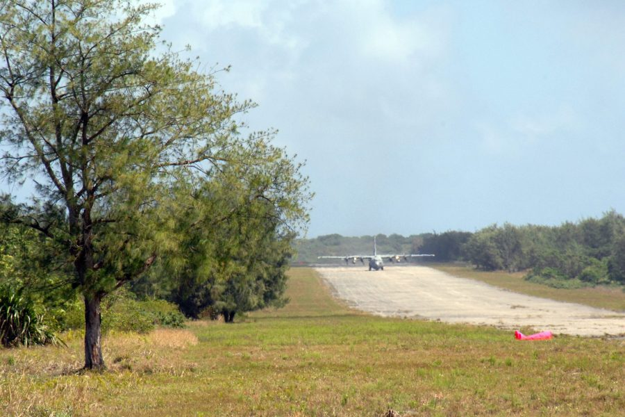 F-35s from Eielson Air Force Base, Alaska, and F-16s from Misawa Air Base, Japan, will practice operating from this remote airstrip at Northwest Field, next to Andersen Air Force Base, Guam, which is typically reserved for C-130 and helicopter operations. USAF photo by Capt. Andrew G. Hoskinson.