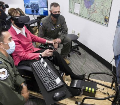 Air Force top officials visit JBSA missions for first combined trip