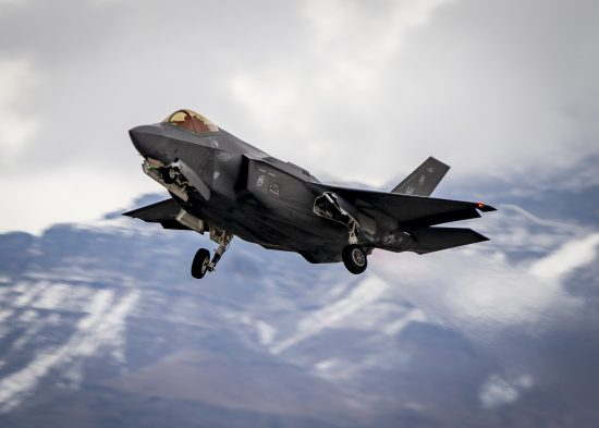 F-35 Lightning II takes off during Red Flag 21-1