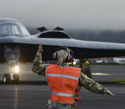 B-2 Spirit arrives at Lajes Field AFB, Azores