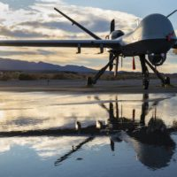 Sun sets over the MQ-9 Reaper