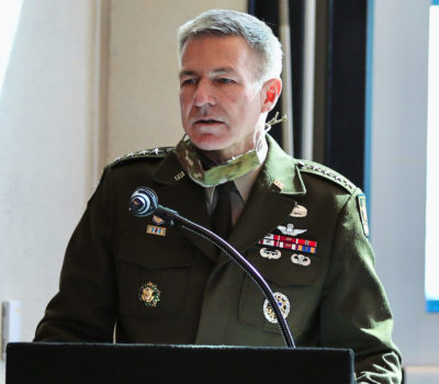 General McConville gives speech at Col. King's promotion