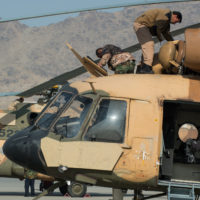 Afghan air force maintainers