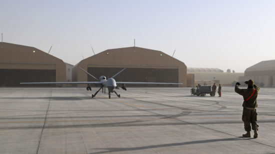 MQ-9 Reaper take off and maintenance
