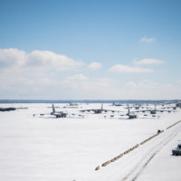 Winter weather hits Barksdale